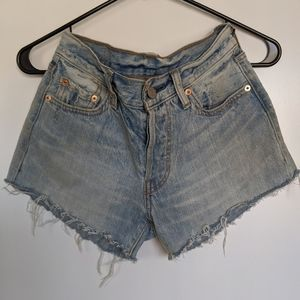 Levi's 501 Shorts, 24, High Rise Cutoff Shorts